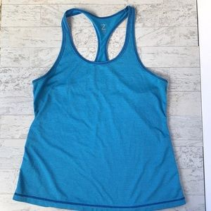 Blue striped Zella workout tank top, size M